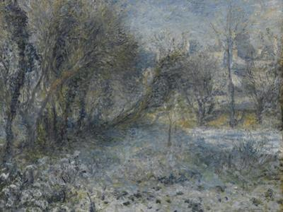Snow-Covered Landscape, 1870-1875 by Pierre-Auguste Renoir