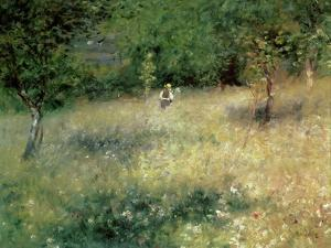 Spring at Chatou, circa 1872-5 by Pierre-Auguste Renoir