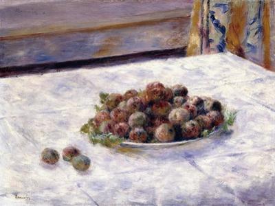 Still Life, Prunes on a Plate, C.1884 by Pierre-Auguste Renoir