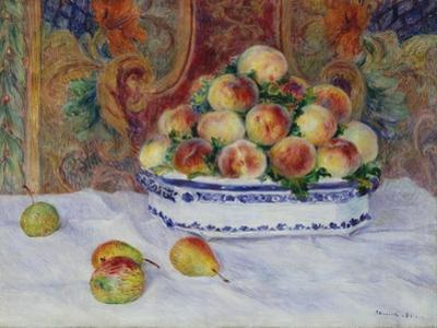Still Life with Peaches, 1881 by Pierre-Auguste Renoir