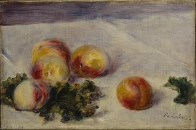 Still Life with Peaches on a Table, C.1890-1918 by Pierre-Auguste Renoir
