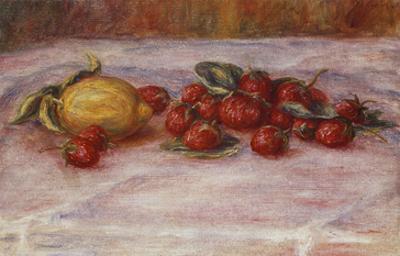 Strawberries and Lemons; Fraises Et Citron by Pierre-Auguste Renoir