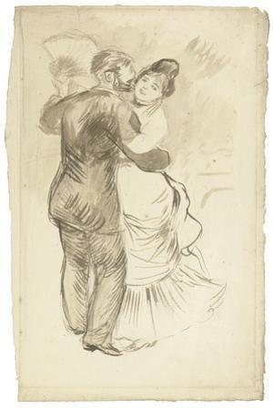 Study for 'Countryside Dance', 1883 by Pierre-Auguste Renoir