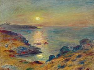 Sunset at Douarnenez, Ca, 1883 by Pierre-Auguste Renoir
