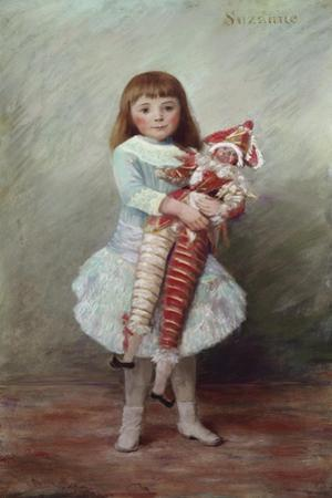 Suzanne with Harlequin Puppet by Pierre-Auguste Renoir