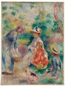 The apple seller, 1890 by Pierre Auguste Renoir