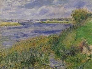 The Banks of the Seine, Champrosay, 1876 by Pierre-Auguste Renoir