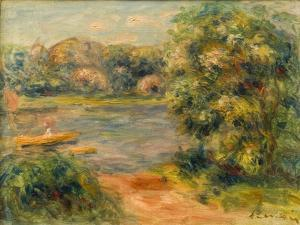 The Boat on the Lake, 1901 by Pierre-Auguste Renoir