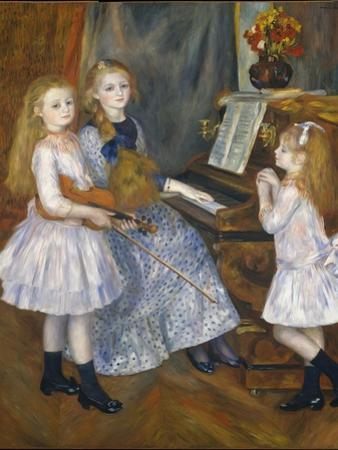The Daughters of Catulle Mendes at the Piano, 1888 by Pierre-Auguste Renoir
