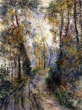 The Forest Path, 1871 by Pierre-Auguste Renoir