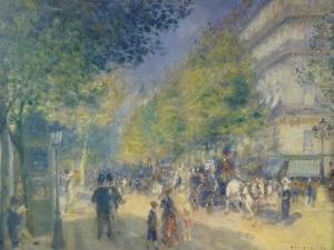 The Grand Boulevard, 1875 by Pierre-Auguste Renoir