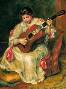 The Guitar Player by Pierre-Auguste Renoir