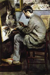 The Painter In The Studio of Bazille by Pierre-Auguste Renoir