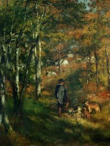 The Painter Lecoeur in the Woods of Fontainebleau, 1866 by Pierre-Auguste Renoir