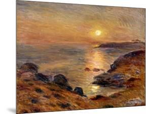 The Setting of the Sun at Douarnenez; Couche De Soleil a Douarnenez, 1883 by Pierre-Auguste Renoir