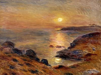 The Setting of the Sun at Douarnenez by Pierre-Auguste Renoir