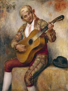 The Spanish Guitarist, 1894 by Pierre-Auguste Renoir