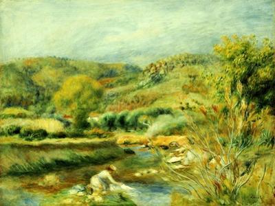 The Washerwoman, C.1891 by Pierre-Auguste Renoir