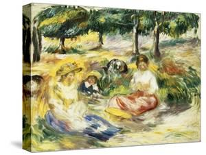 Three Girls Sitting on the Grass; Trois Jeunes Filles Assises Sur L'Herbe, 1896-1897 by Pierre-Auguste Renoir
