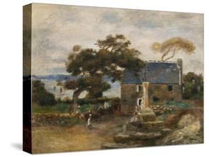 Treboul, Near Douardenez, Brittany; Treboul, Pres De Douardenez, Bretagne, 1895 by Pierre-Auguste Renoir