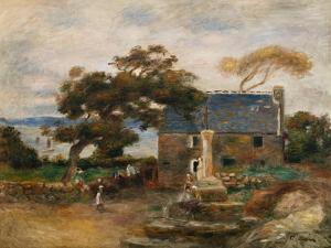 Treboul, near Douardenez, Brittany (Treboul, pres de Douardenez, Bretagne). 1895 by Pierre-Auguste Renoir