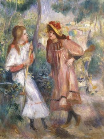 Two Girls in the Garden at Montmartre by Pierre-Auguste Renoir
