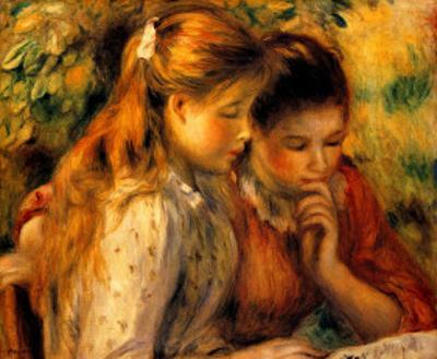 Two Girls Reading by Pierre-Auguste Renoir