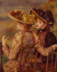 Two Seated Young Girls by Pierre-Auguste Renoir