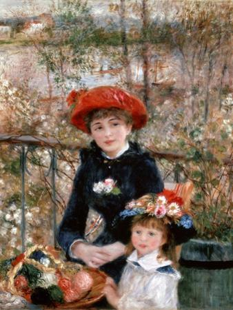 Two Sisters (On the Terrac), 1881 by Pierre-Auguste Renoir