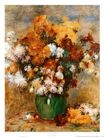 Vase of Chrysanthemums by Pierre-Auguste Renoir