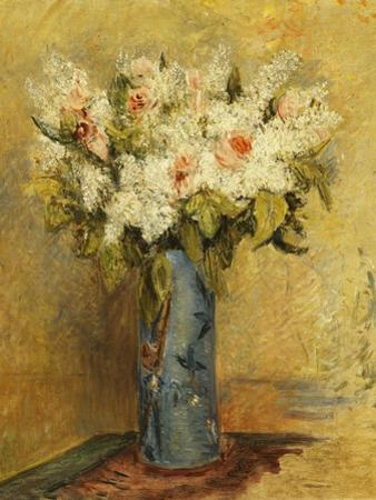 Vase of Lillies and Roses, C.1870 by Pierre-Auguste Renoir