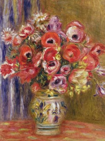 Vase of Tulips and Anemones, circa 1895 by Pierre-Auguste Renoir