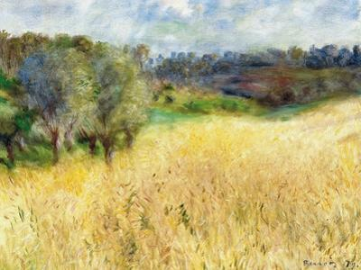 Wheatfield, 1879 by Pierre-Auguste Renoir