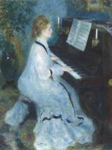 Woman at the Piano, 1875-76 by Pierre Auguste Renoir