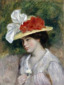 Woman in a Flowered Hat, 1889 by Pierre-Auguste Renoir