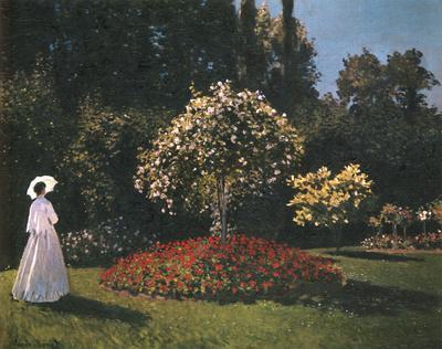Woman in a Garden by Pierre-Auguste Renoir