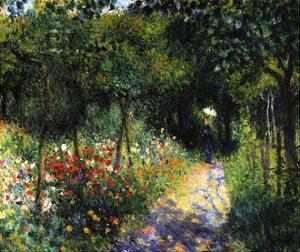 Woman in the Garden, 1873 by Pierre-Auguste Renoir