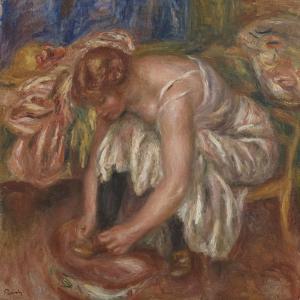 Woman tying her Shoe, 1918 by Pierre Auguste Renoir by Pierre Auguste Renoir
