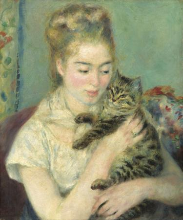 Woman with a Cat, c1875