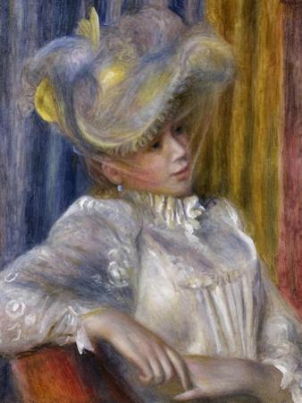 Woman with a Hat (Femme Au Chapea), 1891 by Pierre-Auguste Renoir