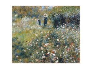 Woman with a Parasol in a Garden by Pierre-Auguste Renoir