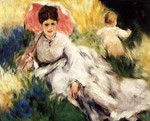 Woman with a Parasol by Pierre-Auguste Renoir
