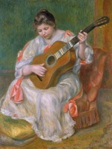 Woman with Guitar, 1897 by Pierre-Auguste Renoir