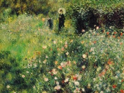 Woman with Parasol in a Garden, 1873 by Pierre-Auguste Renoir