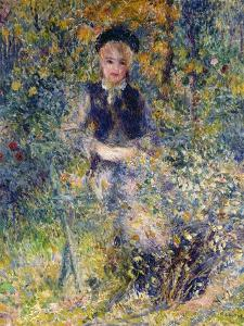 Young Girl on a Garden Bench, 1875 by Pierre-Auguste Renoir