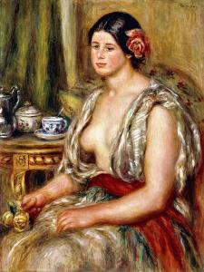 Young Girl Seated in Oriental Costume, 1905 by Pierre-Auguste Renoir
