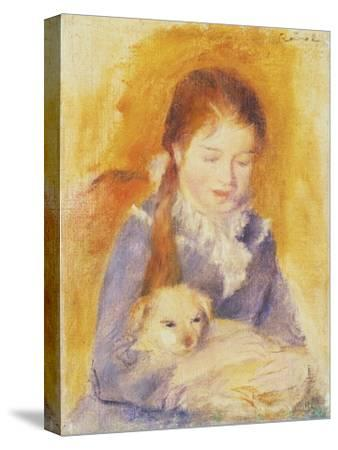 Young Girl with a Dog, C.1875