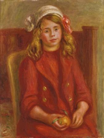 Young Girl with an Orange; Fillette a L'Orange, 1911 by Pierre-Auguste Renoir