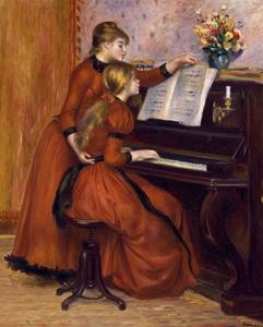 Young Girls at the Piano. Ca. 1889 by Pierre-Auguste Renoir