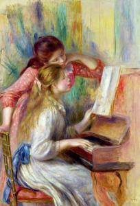 Young Girls at the Piano, circa 1890 by Pierre-Auguste Renoir